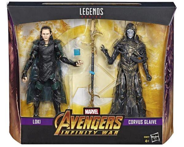 Marvel Legends Avengers: Infinity War Loki vs Corvus Glaive Action Figure Two-Pack