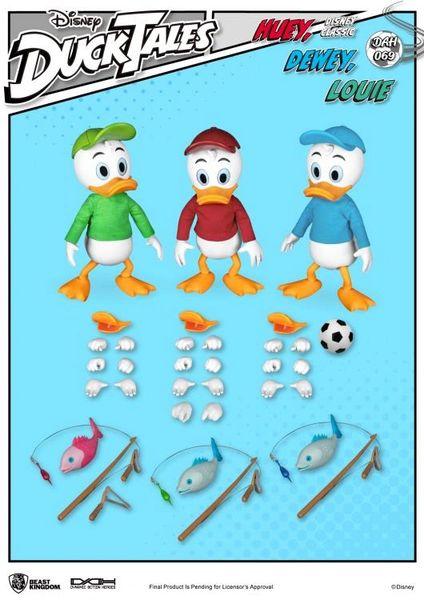 DuckTales Dynamic 8ction Heroes DAH-069 Huey, Dewey, & Louie Set of 3 Figures