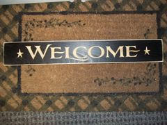 "24"" Block welcome sign black"