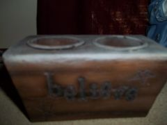 2 tea light holder believe