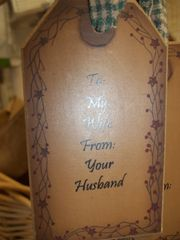 To my Wife gift tag