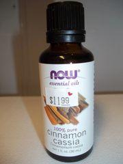 Now essential oil 100% pure Cinnamon cassia 1fl oz