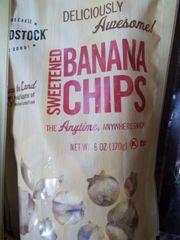 Woodstock sweetened banana chips 6 oz
