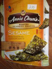annie Chun's roasted seaweed snacks sesame 0.35 oz