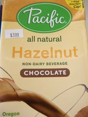 Pacific all natural Hazelnut non dairy beverage chocolate