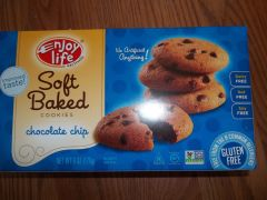 Enjoy Life Chocolate Chip soft baked cookies gluten free, dairy free, nut free, soy free NON GMO