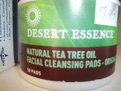 Desert Essence Natural Tea Tree Oil Facial Cleansing Pads - Original -- 50 Pads