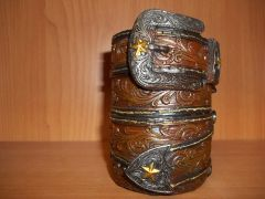 western buckle pencil/pen holder