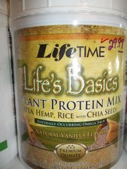 Life time Life's Basics plant protein mix vanilla