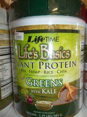Life time Life's Basics plant protein mix greens w/kale vegan