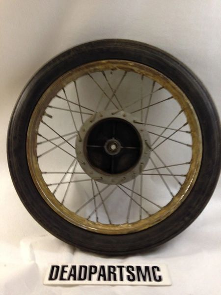Harley Aermacchi Italian Pirelli 18 inch front spoke drum brake wheel