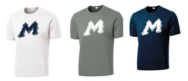 "Mtn West ""M"" Moisture Management Spirit Tees"