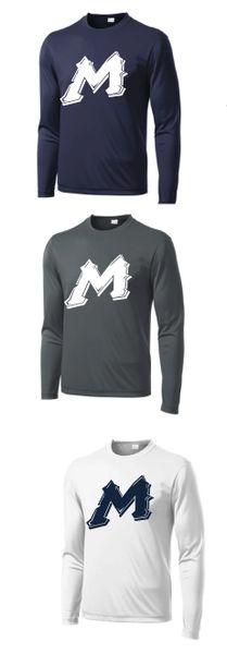 "Mtn West ""M"" Moisture Management Long Sleeve Spirit Tees"