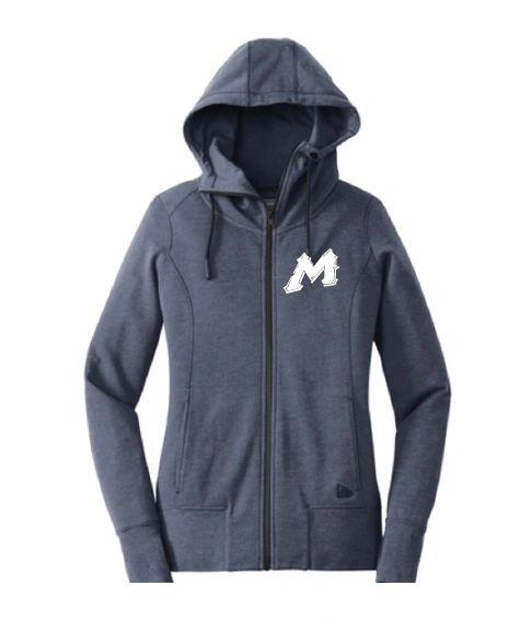 "Mtn West ""M"" New Era Ladies Zip Up Hoodie with Embroidered Logo"
