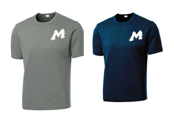 """Mtn West """"M"""" Moisture Management Tee - Jersey logo"""