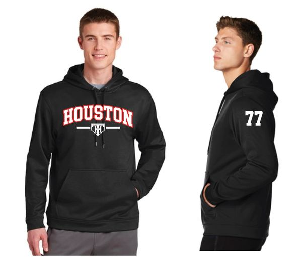 TEAM HOUSTON Moisture Management Hoodie with Player Number