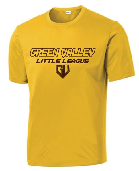 GVLL TeeBall Padres Moisture Management Shirt