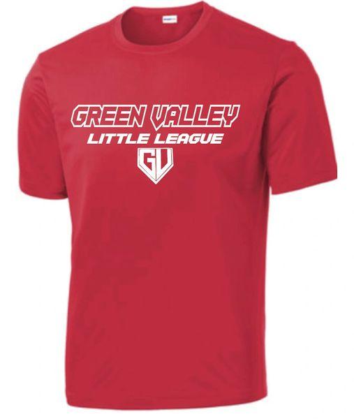GVLL TeeBall Cardinals Moisture Management Shirt
