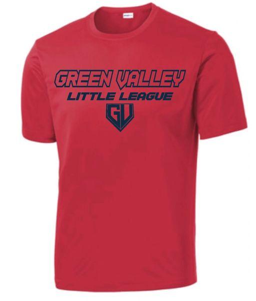 GVLL Rookie Red Sox Moisture Management Shirt