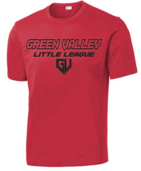 GVLL Minors Reds Moisture Management Shirt