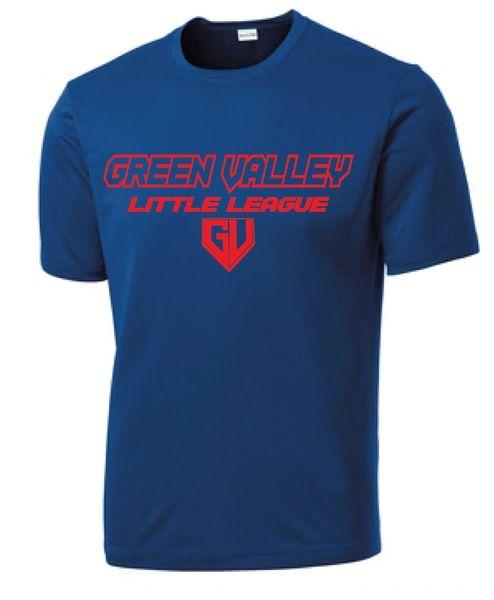 GVLL Majors Cubs Moisture Management Shirt
