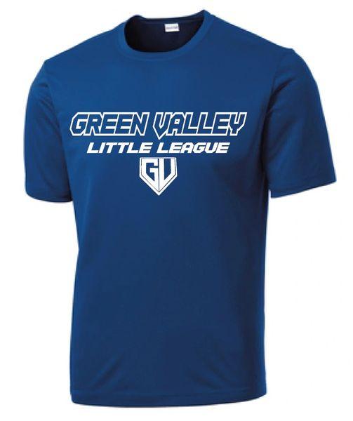 GVLL Majors Dodgers Moisture Management Shirt