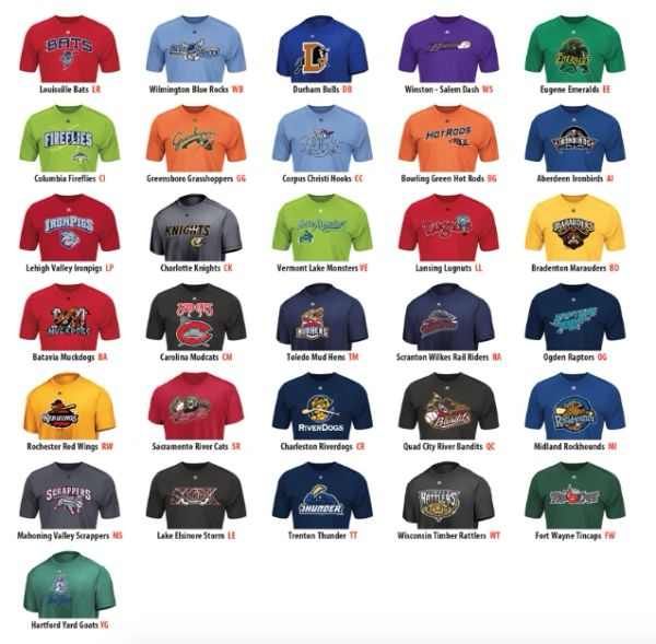Minor League Replica Wicking T-Shirt