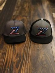All American Flag Caps Flex Fit Z Cages