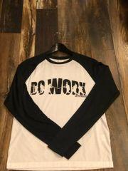 Do Work Black/White Long Sleeve Raglan