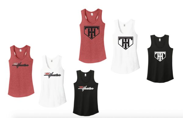 TEAM HOUSTON Ladies Soft Tank Tops - Racer Back