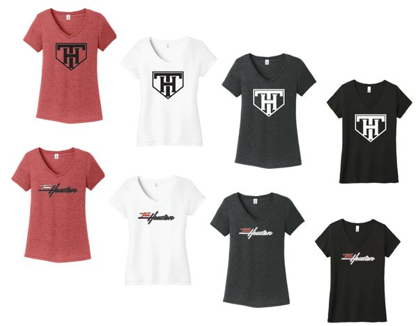 TEAM HOUSTON Ladies Soft Tees - V Neck
