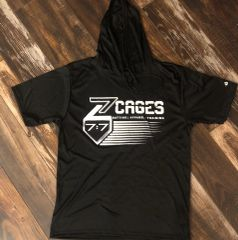 Z Cages 7:7 Short Sleeve Moisture Management Hoodie Shirts