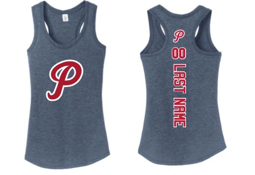 "Patriots ""P"" Ladies Racer Tank Top"