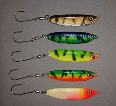 Custom Painted 2 oz. Crippled Herring Jigs