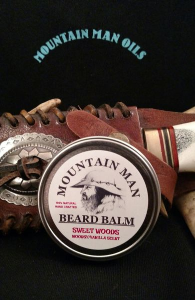 MOUNTAIN MAN OILS BEARD BALM SWEET WOODS (woodsy/vanilla scent)