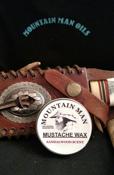 MOUNTAIN MAN OILS MUSTACHE WAX (SANDAL WOOD SCENT )