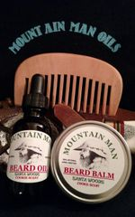 MOUNTAIN MAN OILS BEARD OIL , BEARD BALM & ROSEWOOD COMB COMBO PACK