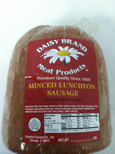 Minced Luncheon Sausage-OCTOBER SALE!