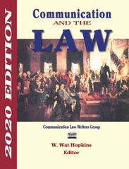 Communication and the Law, 2020 Ed. BULK ORDERS