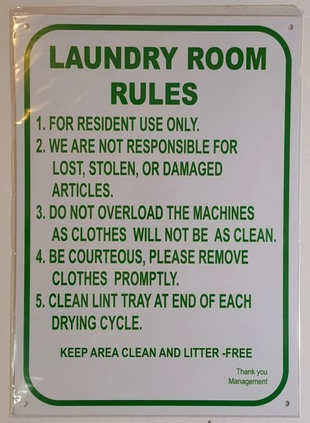 Hpd Signs Laundry Room Rules Sign The Aluminum Hpd Sign For Ny Hpd Signs The Official Store