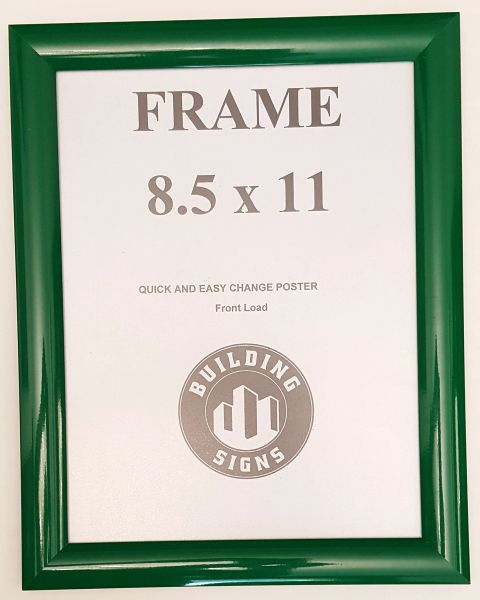 Green Snap Frame 85x11 Inches Front Loading Quick Poster Change