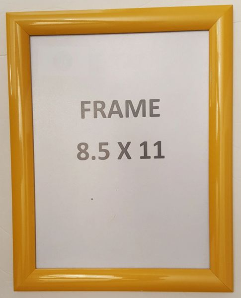 Yellow Snap Poster Frame Picture Frame Notice Frame 85 X 11 F