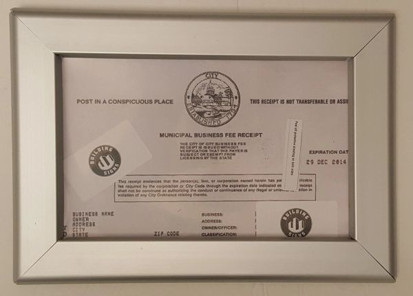 business license frame heavy duty frame ideal for use in nyc hpd signs the official store hpd signs