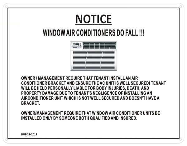 Hpd Sign Notice About Window Air Conditioners Hpd