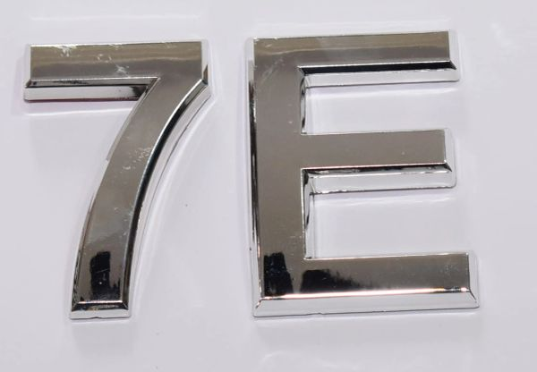 z- APARTMENT, DOOR AND MAILBOX LETTER 7E SIGN - LETTER SIGN 7 E- SILVER  (HIGH QUALITY PLASTIC DOOR SIGNS 0.25 THICK)