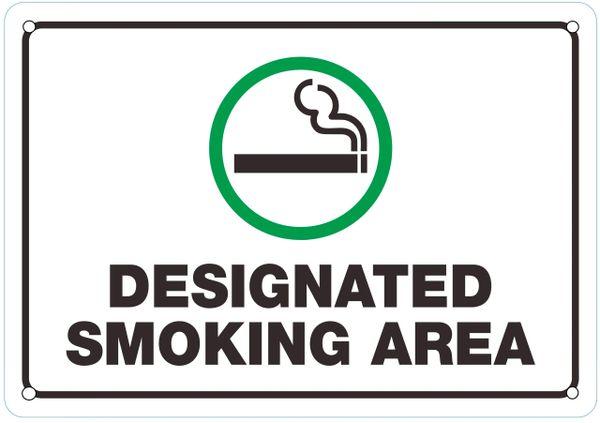 hpd sign  designated smoking area sign  the aluminum dob