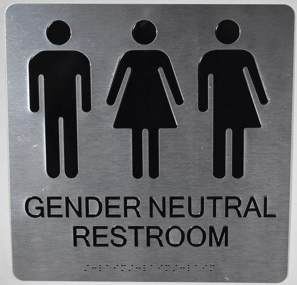 Gender Neutral Restroom Ada Signs The Sensation Line