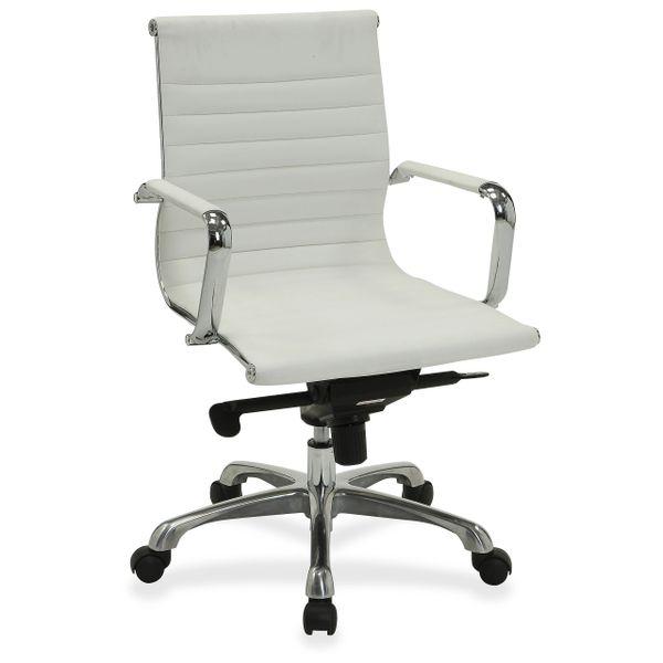 Peachy Lorell Modern Leather Chair Mid Back Machost Co Dining Chair Design Ideas Machostcouk