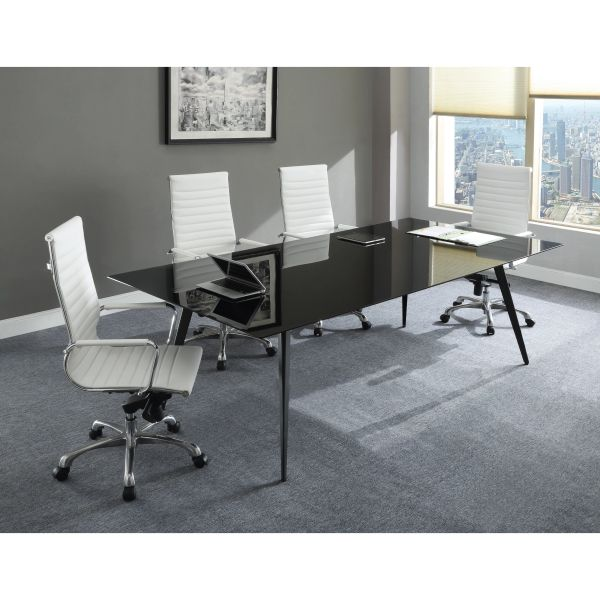 Remarkable Black Glass Conference Table 2 Sizes Home Interior And Landscaping Ponolsignezvosmurscom