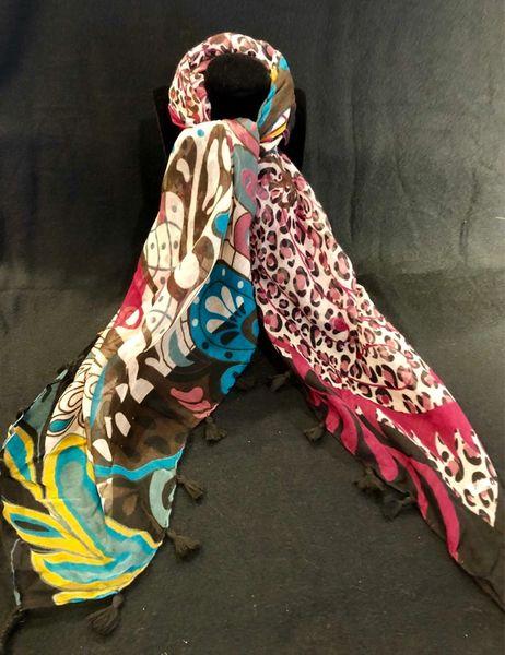 Earth Tones Tasseled Fashion Scarf